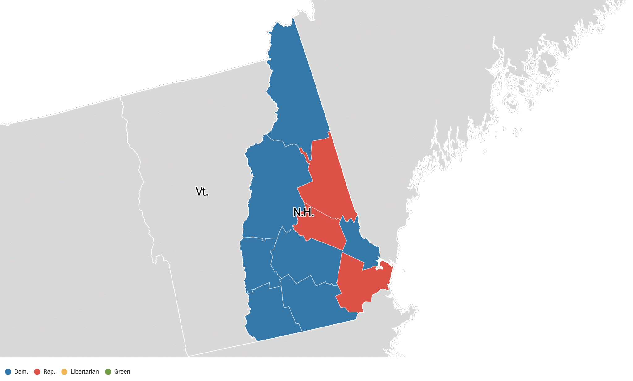 New Hampshire Election Results 2016 Live Maps Polling Analysis