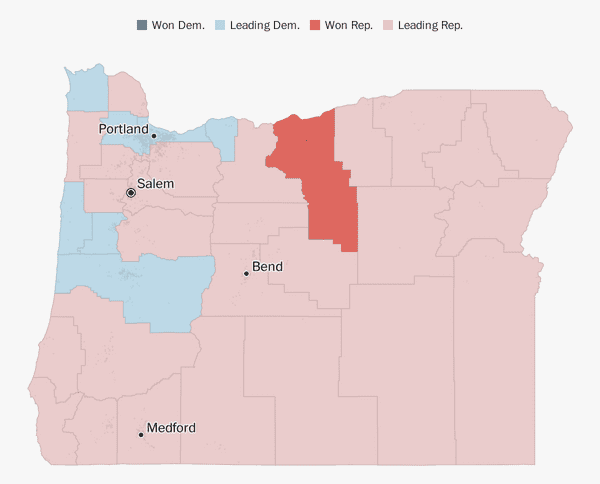 Oregon election results 2018 - The Washington Post