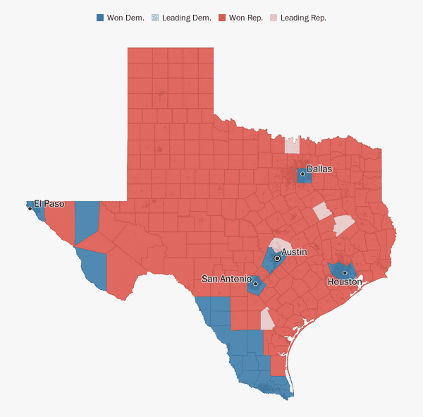 Map Of Texas District 6.Texas Election Results 2018 The Washington Post