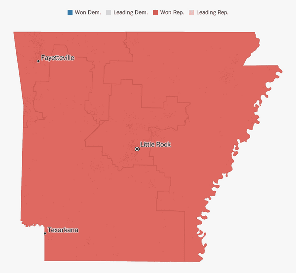 Arkansas election results 2018 - The Washington Post