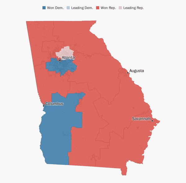 Georgia election results 2018 - The Washington Post