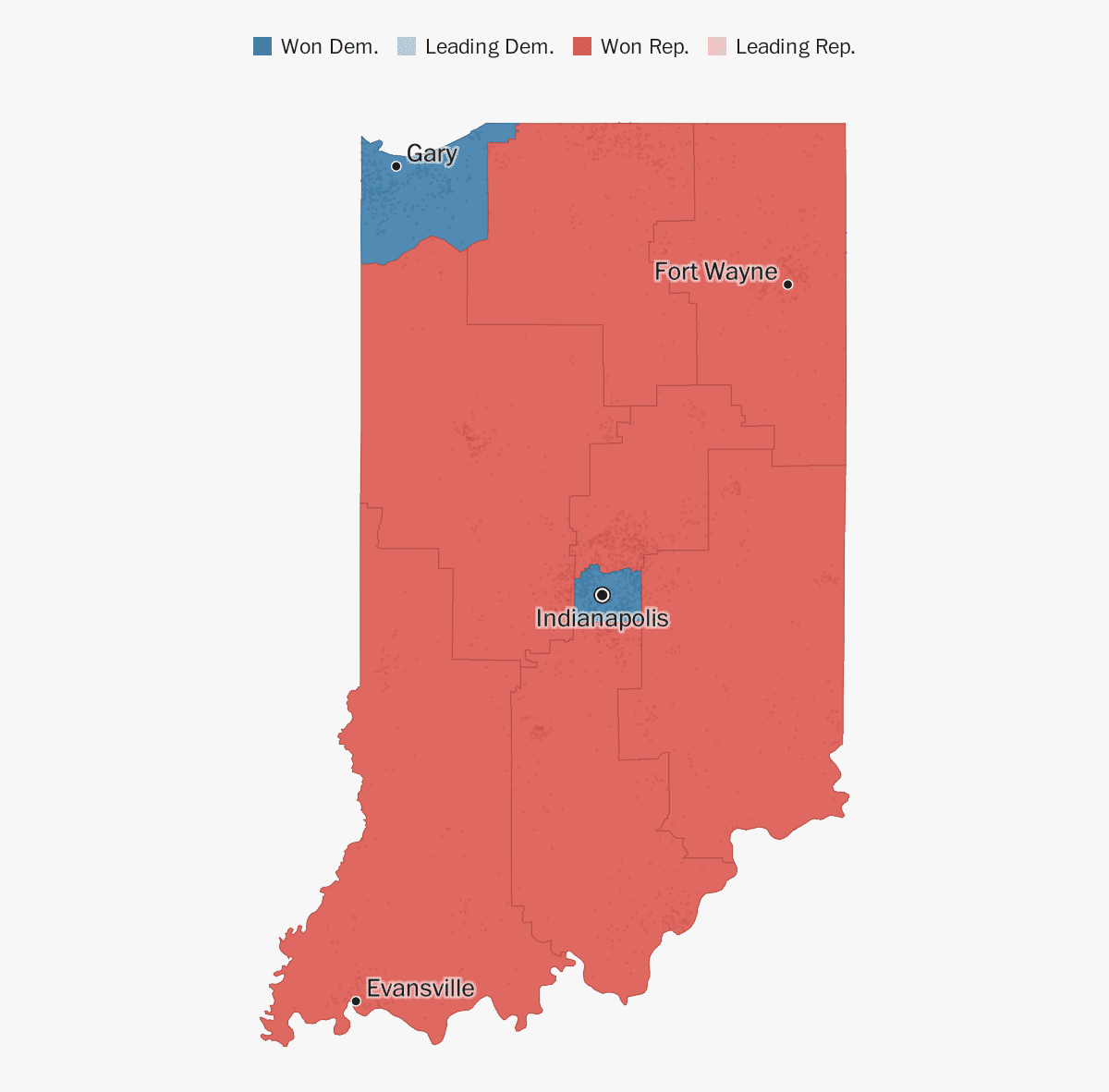 Indiana election results 2018 - The Washington Post