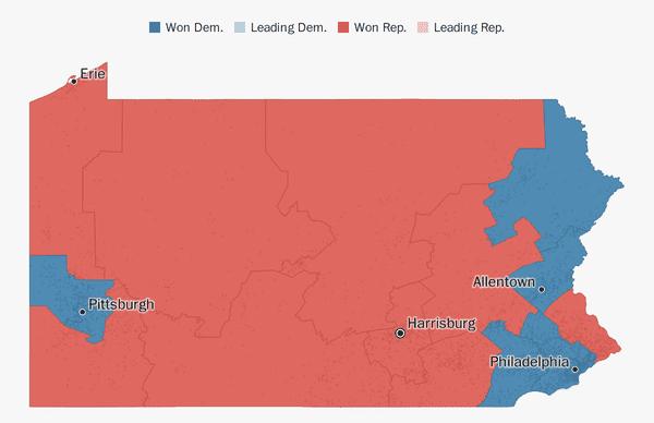 Pennsylvania election results 2018 - The Washington Post