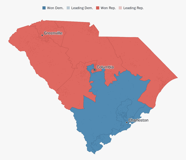 Florida Congressional Districts Map.South Carolina Election Results 2018 The Washington Post