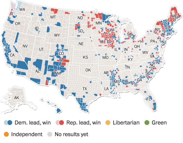 Who Is The President Of The United States Donald Trump Wins - Us polls map 2016