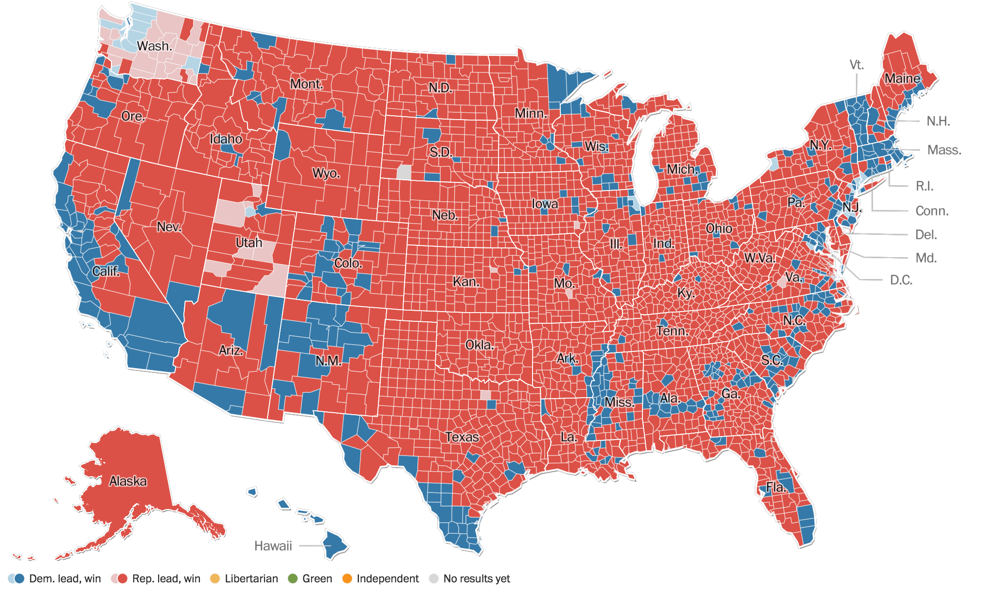 Who Is The President Of The United States Donald Trump Wins - Presidential election winning us map