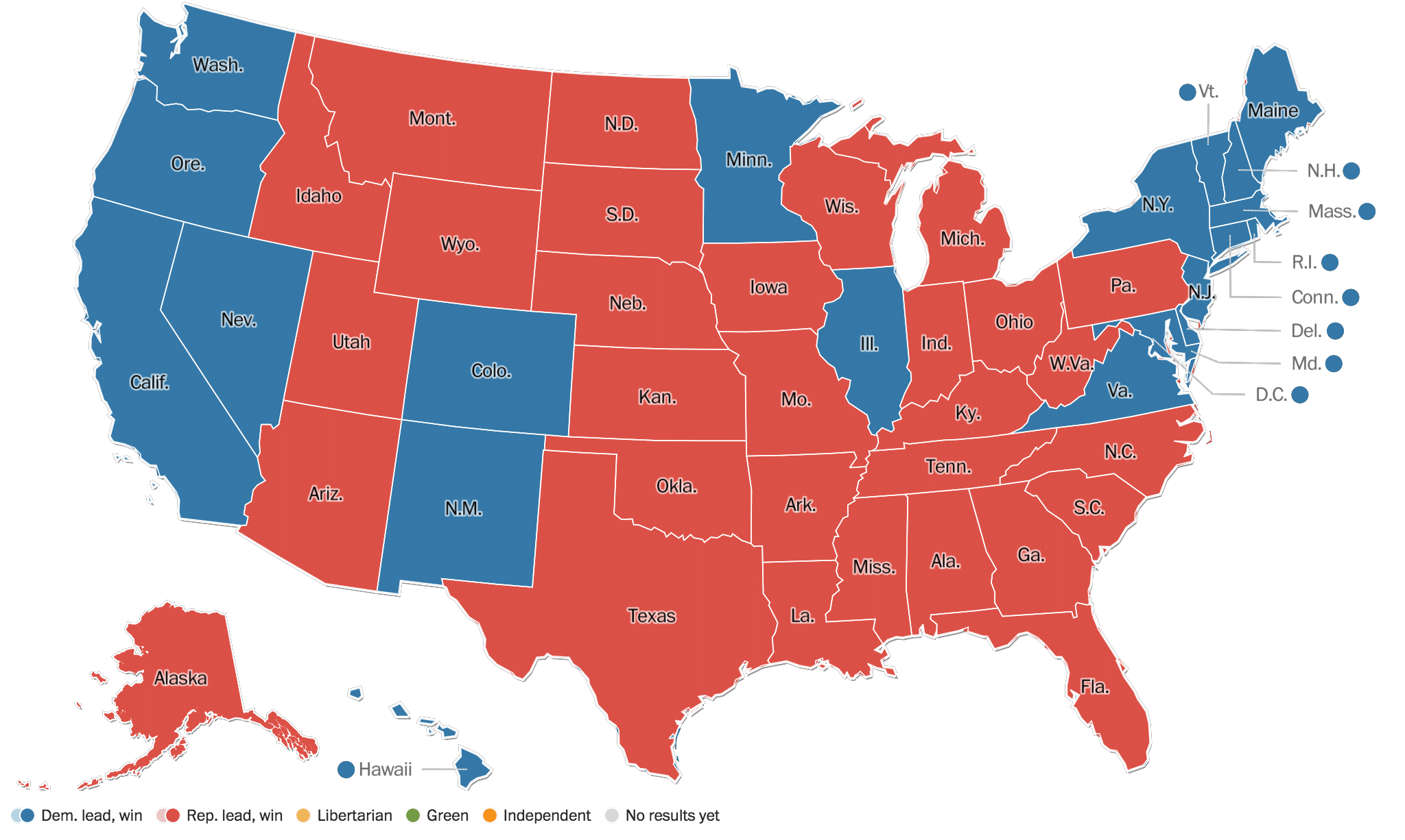 Who Is The President Of The United States Donald Trump Wins - Us elections map 2016 live