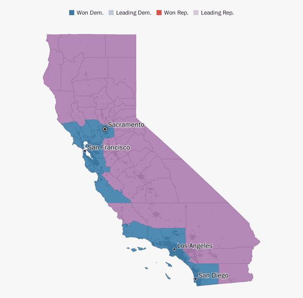 Orange County Political Map.California Election Results 2018 The Washington Post