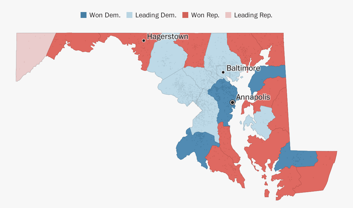 Map Of California Md.Maryland Election Results 2018 The Washington Post