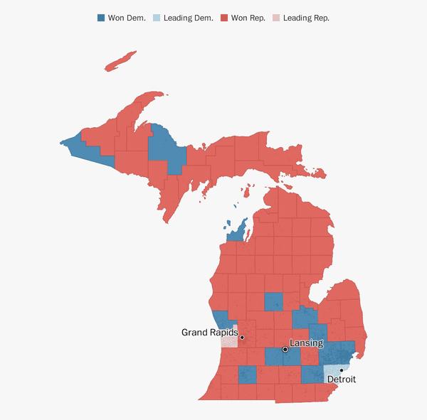 Michigan election results 2018 - The Washington Post