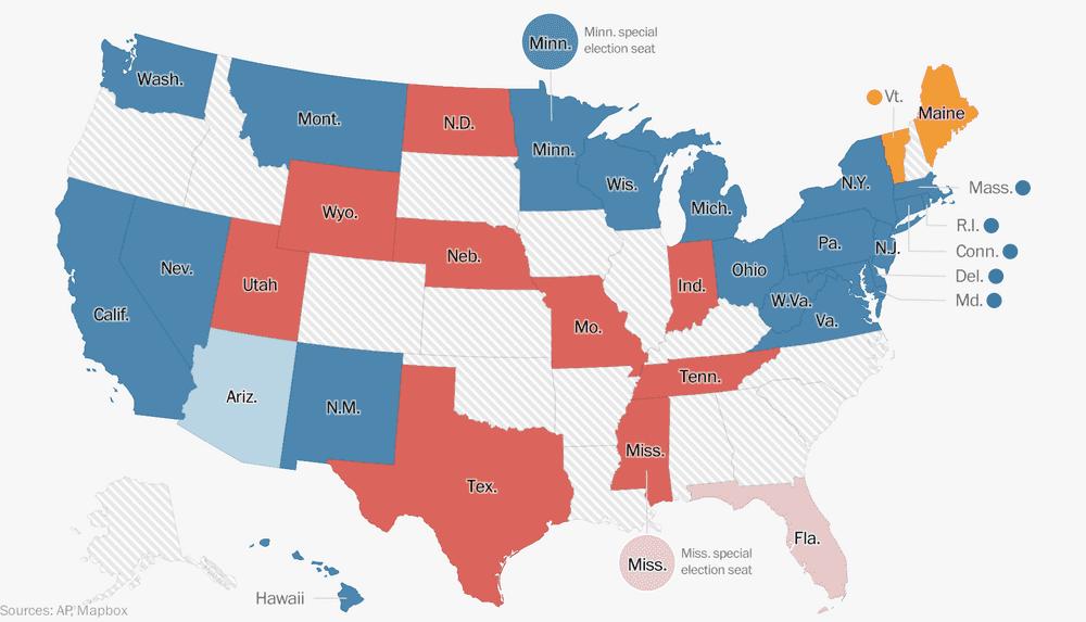 2018 Senate Election Results - The Washington Post