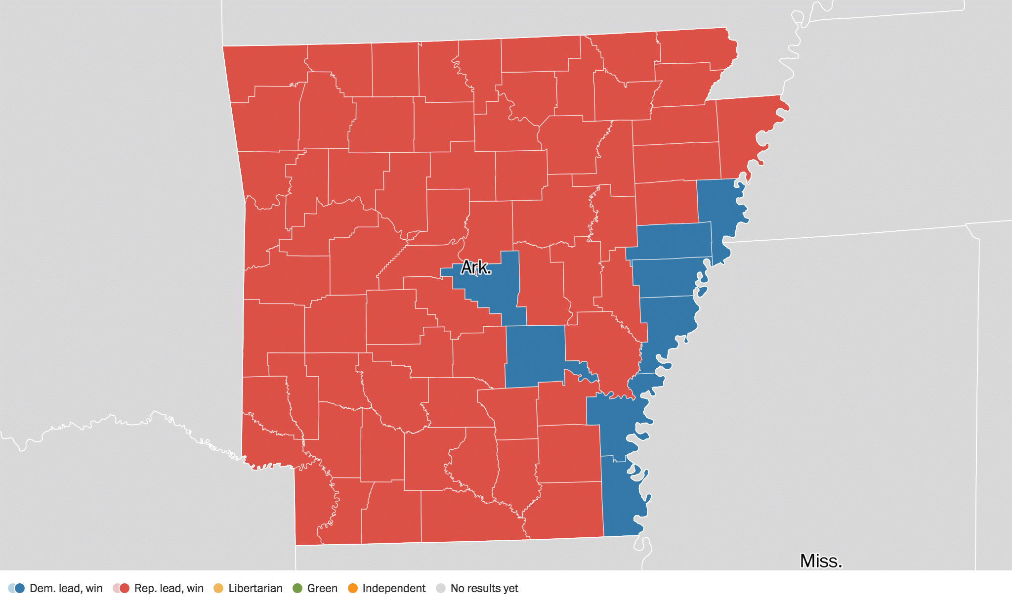 Arkansas Election Results Live Maps Polling Analysis - Us election results live map