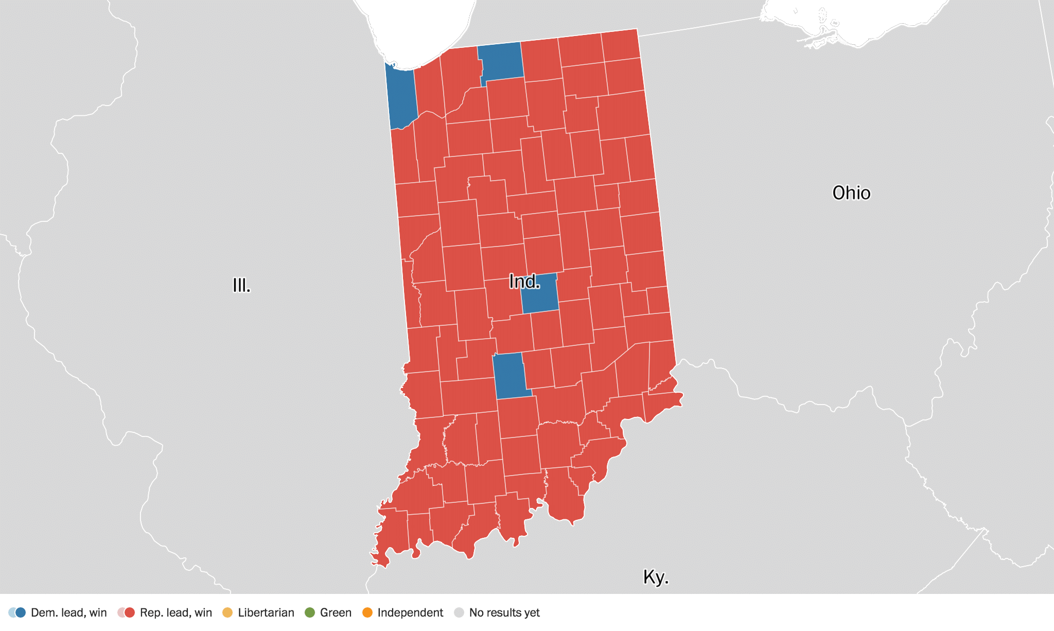 Indiana Election Results Live Maps Polling Analysis - Us election results live map