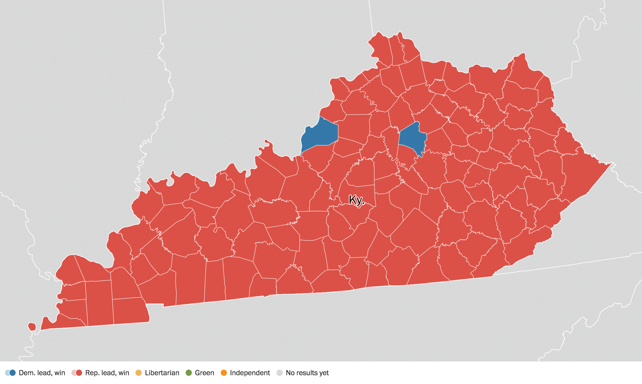 Kentucky Election Results Live Maps Polling Analysis - Us election 2016 results map