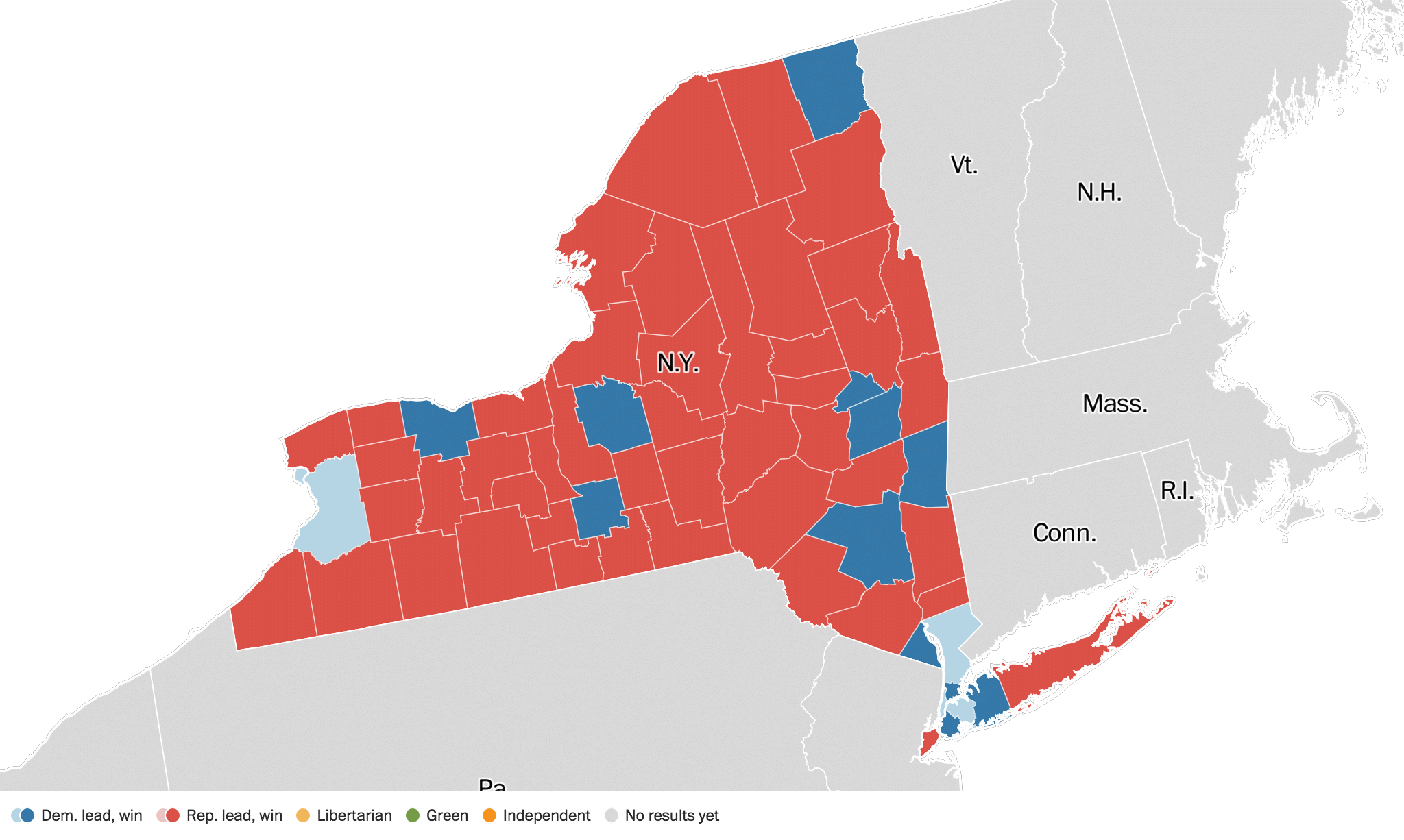New York Election Results Live Maps Polling Analysis - Us election results live map