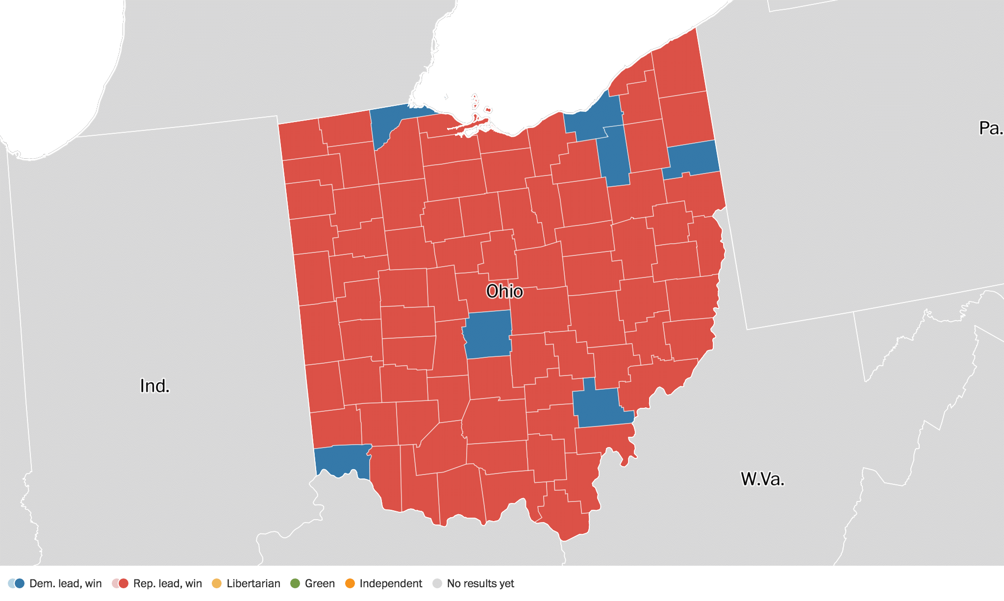 Ohio Election Results Live Maps Polling Analysis Schedule - Us election results live map