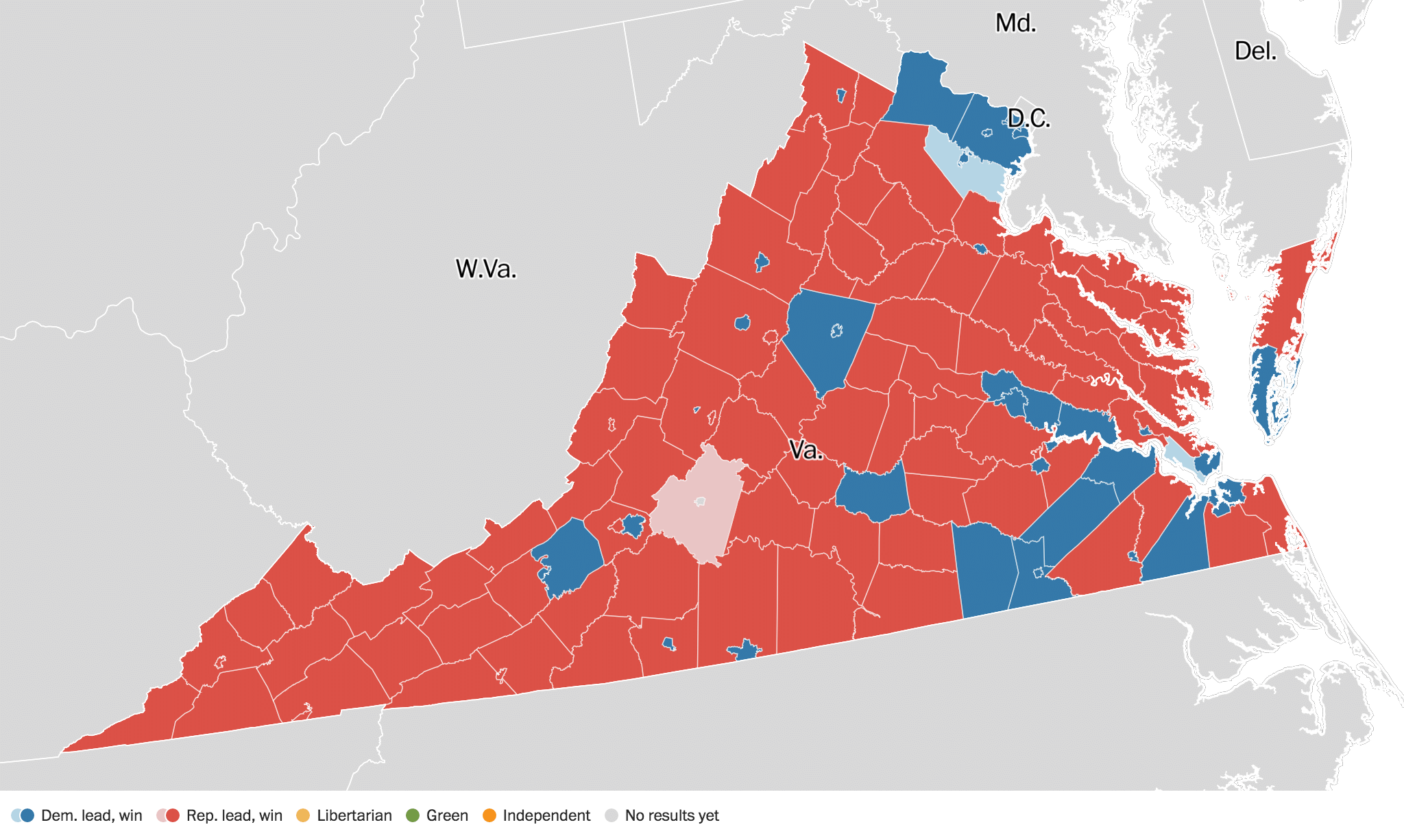 virginia election results 2016: live maps, polling, analysis